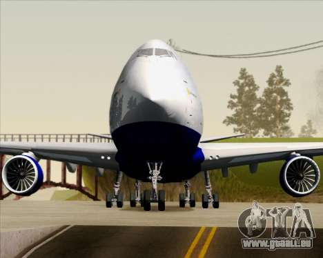 Boeing 747-8 Cargo British Airways World Cargo pour GTA San Andreas vue de dessous