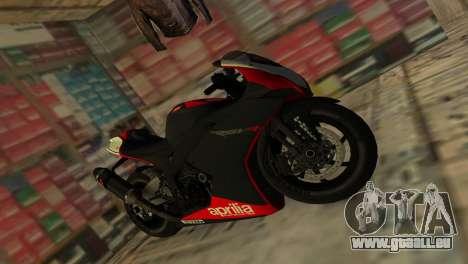 Aprilia RSV4 2009 Original für GTA Vice City rechten Ansicht