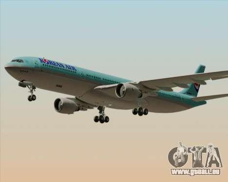 Airbus A330-300 Korean Air für GTA San Andreas obere Ansicht