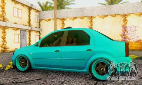 Dacia Logan Pearl Blue pour GTA San Andreas sur la vue arrière gauche