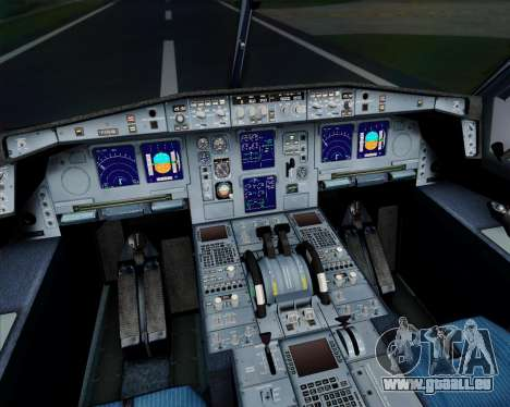 Airbus A340-313 Air France (Old Livery) für GTA San Andreas obere Ansicht