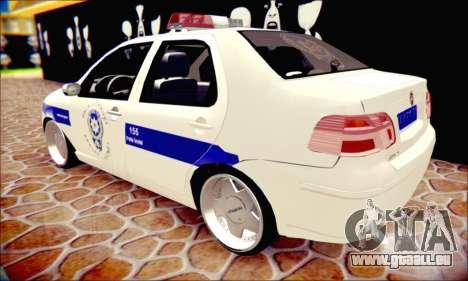 Fiat Albea Police Turkish pour GTA San Andreas vue intérieure