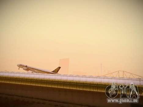 Airbus A340-600 Singapore Airlines für GTA San Andreas Rückansicht