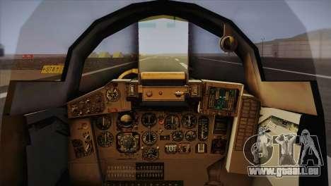 MIG 29 Russian Air Force From Ace Combat für GTA San Andreas Rückansicht