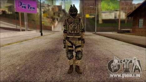 Les soldats de l'UNION européenne (AVA) v2 pour GTA San Andreas