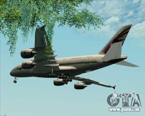 Airbus A380-861 Qatar Airways pour GTA San Andreas vue intérieure