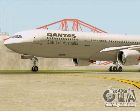 Airbus A330-300 Qantas für GTA San Andreas Unteransicht