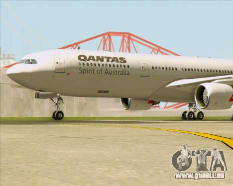 Airbus A330-300 Qantas pour GTA San Andreas vue de dessous