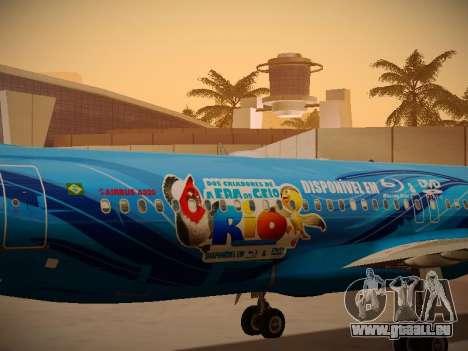 Airbus A320-214 TAM Airlines RIO pour GTA San Andreas vue intérieure