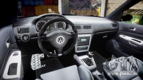 Volkswagen Golf Mk4 R32 Wheel1 pour GTA 4 est une vue de l'intérieur