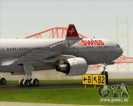 Airbus A330-300 Swiss International Air Lines pour GTA San Andreas vue de dessus