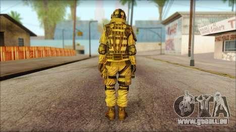 Les soldats de l'UNION européenne (AVA) v2 pour GTA San Andreas deuxième écran