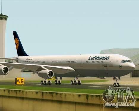 Airbus A340-313 Lufthansa für GTA San Andreas zurück linke Ansicht