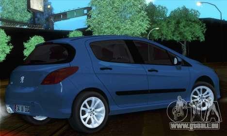 Peugeot 308 2010 pour GTA San Andreas laissé vue
