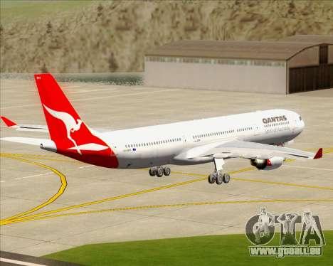 Airbus A330-300 Qantas für GTA San Andreas Innenansicht