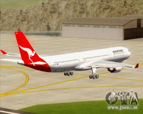 Airbus A330-300 Qantas pour GTA San Andreas vue intérieure