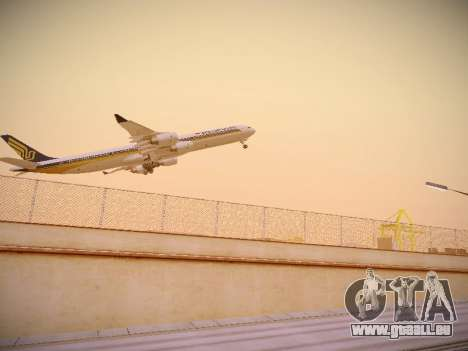 Airbus A340-600 Singapore Airlines für GTA San Andreas rechten Ansicht