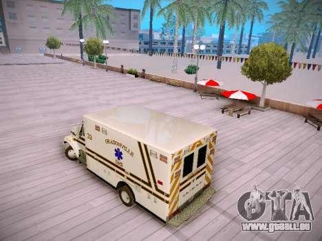 Pierce Commercial Grasonville Ambulance für GTA San Andreas zurück linke Ansicht