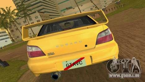 Subaru Impreza WRX 2002 Type 1 pour une vue GTA Vice City de la droite