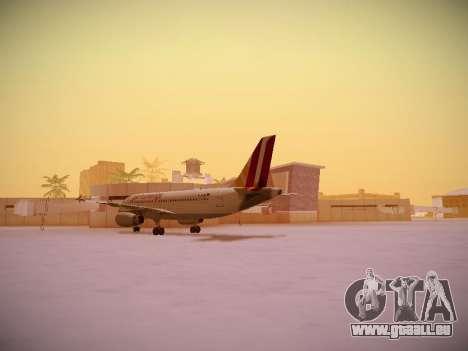 Airbus A319-132 Germanwings pour GTA San Andreas vue arrière