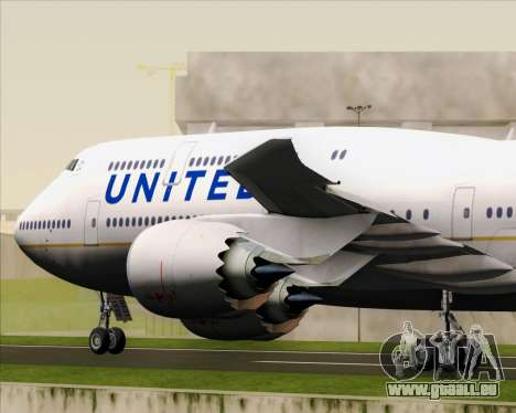 Boeing 747-8 Intercontinental United Airlines für GTA San Andreas Unteransicht
