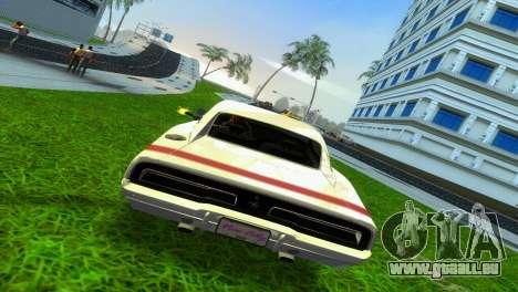 Dodge Charger 1967 pour GTA Vice City sur la vue arrière gauche