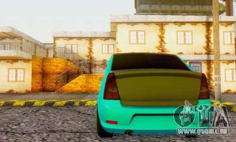 Dacia Logan Pearl Blue pour GTA San Andreas vue arrière
