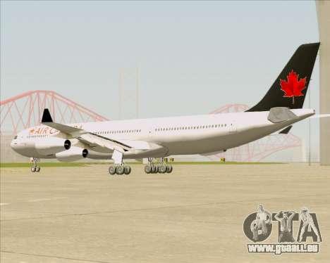 Airbus A340-313 Air Canada pour GTA San Andreas sur la vue arrière gauche