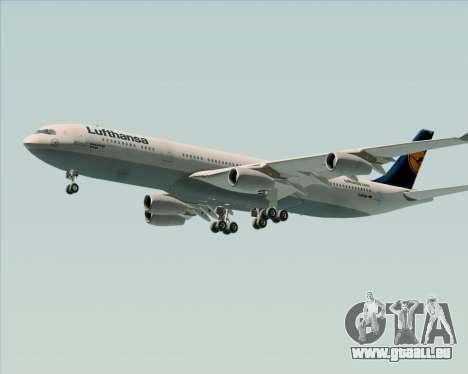 Airbus A340-313 Lufthansa für GTA San Andreas Seitenansicht