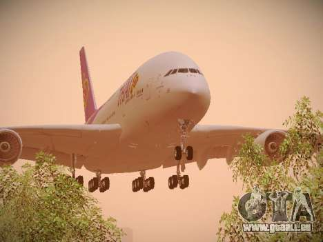 Airbus A380-800 Thai Airways International für GTA San Andreas linke Ansicht