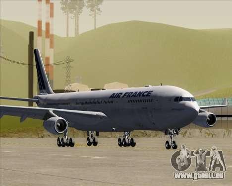 Airbus A340-313 Air France (Old Livery) pour GTA San Andreas laissé vue