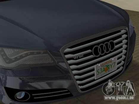 Audi A8 2010 W12 Rim3 für GTA Vice City Innen