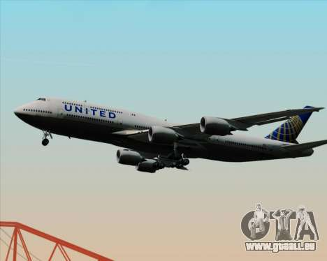 Boeing 747-8 Intercontinental United Airlines für GTA San Andreas Seitenansicht