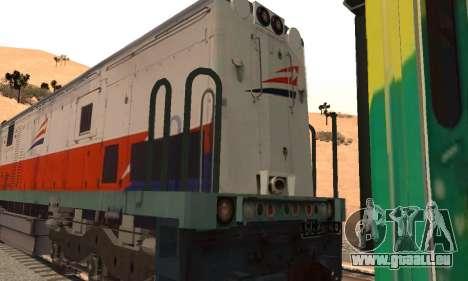 GE U18C CC 201 Indonesian Locomotive pour GTA San Andreas vue de droite