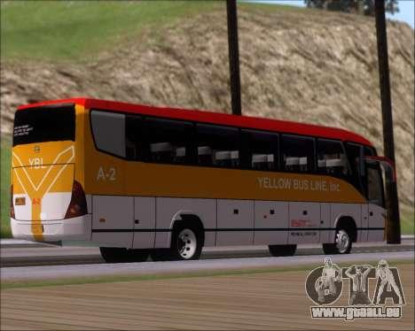 Marcopolo Paradiso G7 1050 Yellow Bus Line A-2 pour GTA San Andreas vue de droite