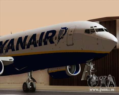 Boeing 737-8AS Ryanair pour GTA San Andreas vue de côté