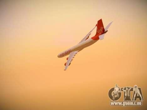 Airbus A340-600 Virgin Atlantic New Livery für GTA San Andreas Unteransicht