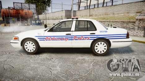 Ford Crown Victoria Alderney Police [ELS] für GTA 4 linke Ansicht