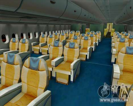 Airbus A380-841 Singapore Airlines für GTA San Andreas Innen