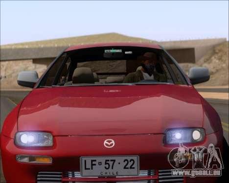 Mazda 323F 1995 pour GTA San Andreas vue de dessus
