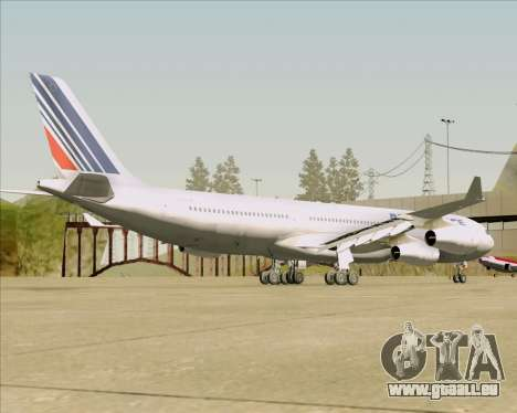 Airbus A340-313 Air France (Old Livery) pour GTA San Andreas vue de droite