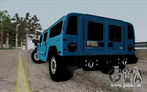 Hummer H1 Alpha 2006 Road version für GTA San Andreas zurück linke Ansicht