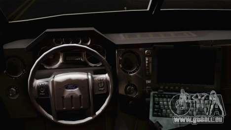 FBI Armored Vehicle v1.2 pour GTA San Andreas sur la vue arrière gauche