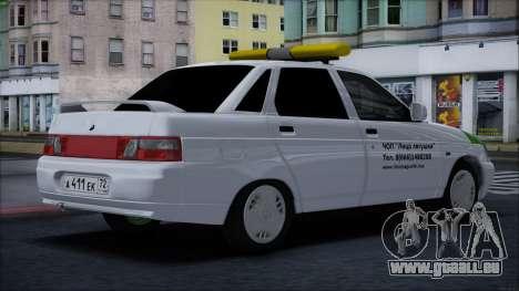 VAZ 2110 Visage de Grenouille pour GTA San Andreas sur la vue arrière gauche