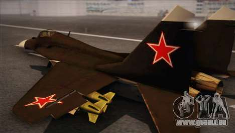 MIG 29 Russian Air Force From Ace Combat für GTA San Andreas linke Ansicht