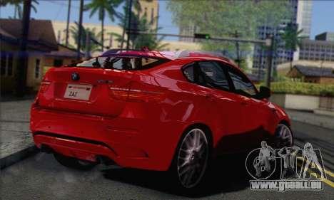 BMW X6M 2013 v3.0 pour GTA San Andreas laissé vue