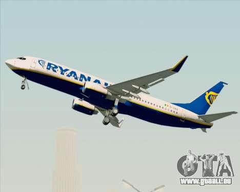 Boeing 737-8AS Ryanair für GTA San Andreas obere Ansicht