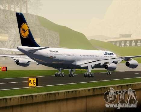 Airbus A340-313 Lufthansa für GTA San Andreas Rückansicht