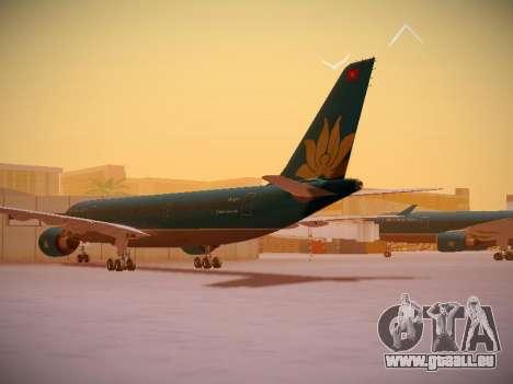 Airbus A330-200 Vietnam Airlines für GTA San Andreas zurück linke Ansicht