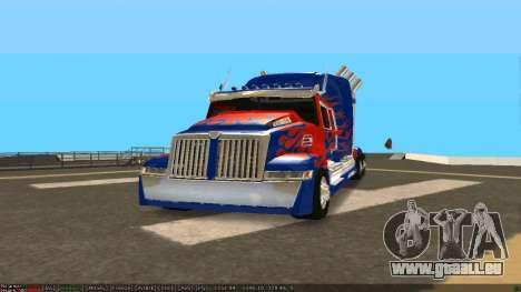 Peterbilt 379 Optimus Prime pour GTA San Andreas